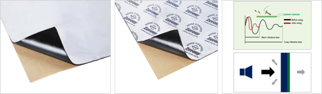 Rubber-based damping sheet (BAL-F)